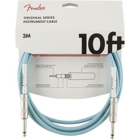 Fender Original Series Instrument Cable, 10', Daphne Blue