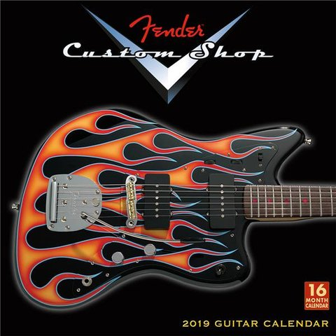 Fender 2019 Fender Custom Shop Wall Calendar
