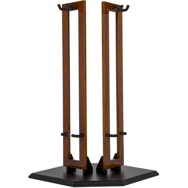 Fender Fender Hanging Wood Double Guitar Stand, Cherry with Black Base