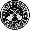 Fender Worldwide Barstool, Black, 24 In