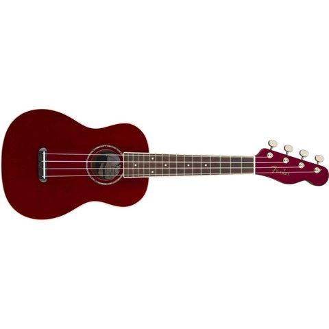 Fender Zuma Classic Concert Uke, Walnut Fingerboard, Candy Apple Red