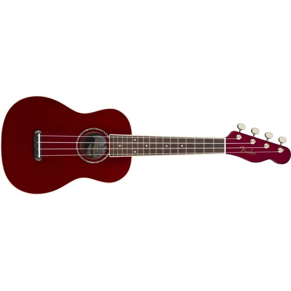 Fender Fender Zuma Classic Concert Uke, Walnut Fingerboard, Candy Apple Red