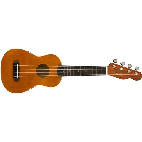 Fender Venice Soprano Uke, Walnut Fingerboard, Natural, Four Pack
