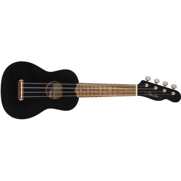Fender Fender Venice Soprano Uke, Walnut Fingerboard, Black