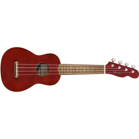 Fender Venice Soprano Uke, Walnut Fingerboard, Cherry