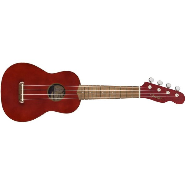 Fender Fender Venice Soprano Uke, Walnut Fingerboard, Cherry