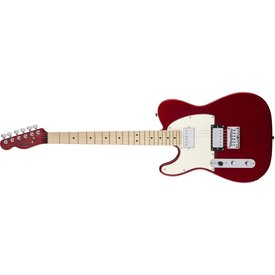 Squier Fender Contemporary Telecaster HH Left-Handed, Maple Fingerboard, Dark Metallic Red