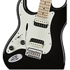 Fender Contemporary Stratocaster HH Left-Handed, Maple Fingerboard, Black Metallic
