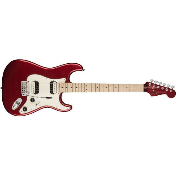 Squier Fender Contemporary Stratocaster HH, Maple Fingerboard, Dark Metallic Red