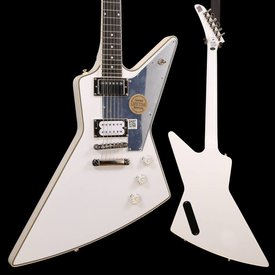 "Epiphone Epiphone EDTHMWNH3 Limited Edition Tommy Thayer ""White Lighting"" Explorer, Metallic White"