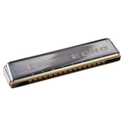 Hohner 1493-G Echo 32 Octave Harmonica (16 Hole Tremolo); Key of G