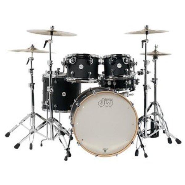 DW DW Drum Workshop Design Series 5 pc w/ 22'' Bass Drum Black Satin