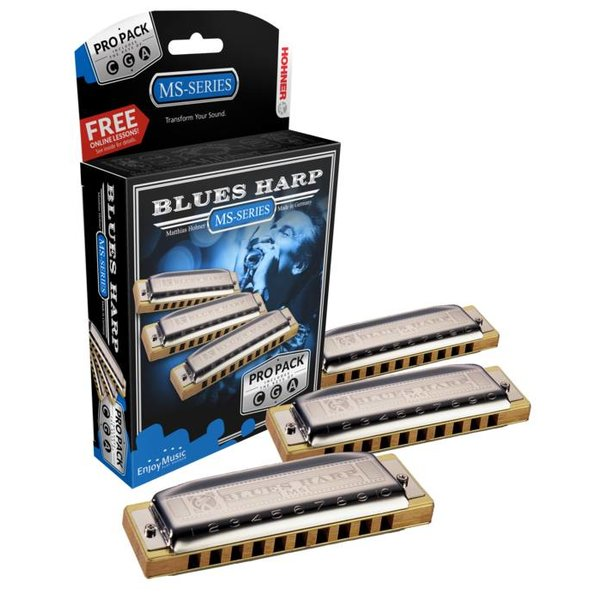 Hohner Hohner 3P532BX Blues Harp 3 Pack Keys of C, G, A