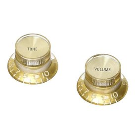 Gibson Gibson PRMK-030 Top Hat Style Knobs Gold w/ Gold Metal Insert