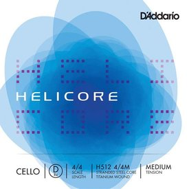 D'Addario Orchestral D'Addario Helicore Cello Single D String, 4/4 Scale, Medium Tension
