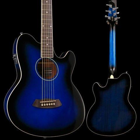Ibanez TCY10ETBS Talman Acoustic Electric Guitar Transparent Blue Sunburst
