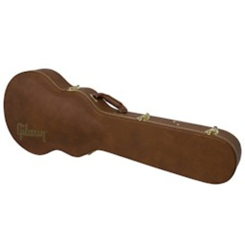 Gibson ES / Les Paul Case Brown Leather / Red Interior