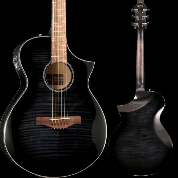 Ibanez Ibanez AEWC 6Str Acoustic/Electric Guitar - Transparent Black Sunburst High Gloss S/N PW190401681