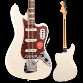 Squier Vintage Modified Bass VI, Rosewood Fingerboard, Olympic White