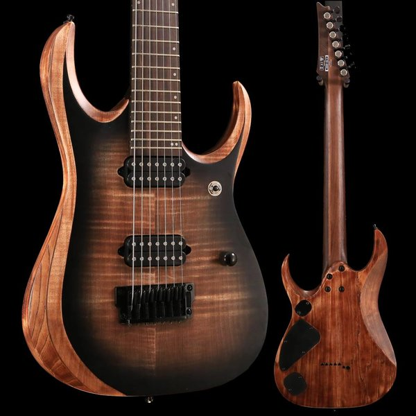 Ibanez Ibanez RGD71ALANB RGD Axion Label 7str Electric Guitar - Antique Brown Stained Burst SN/181122347