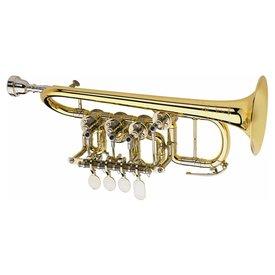 Scherzer Scherzer 8111-L Professional Bb/A Rotary Piccolo Trumpet