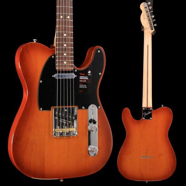 Fender Fender American Performer Telecaster, Rw Fb, Honey Burst US19073221 7lbs 9.2oz