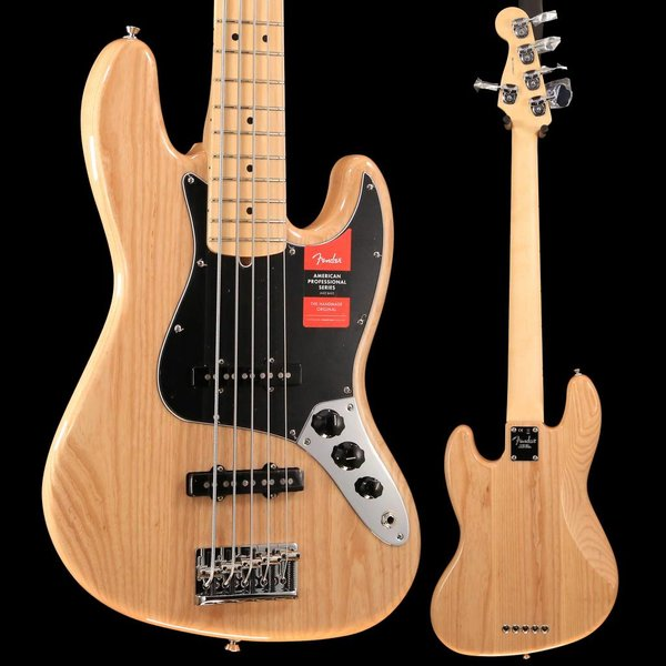 Fender American Professional Jazz Bass V Maple Fingerboard, Natural