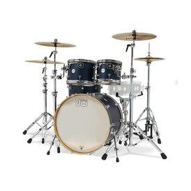 DW DW Drum Workshop Design Series 4 pc w/ 22'' Bass Drum Satin Midnight Blue