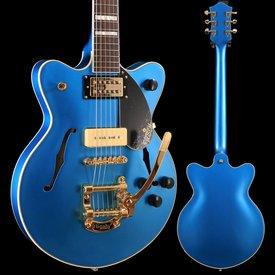 Gretsch Guitars Gretsch G2655TG-P90 LTD Streamliner Cntr Blk Jr Dbl Cutwy RW Fngrbd, Riviera Blue Satin SN/180606912