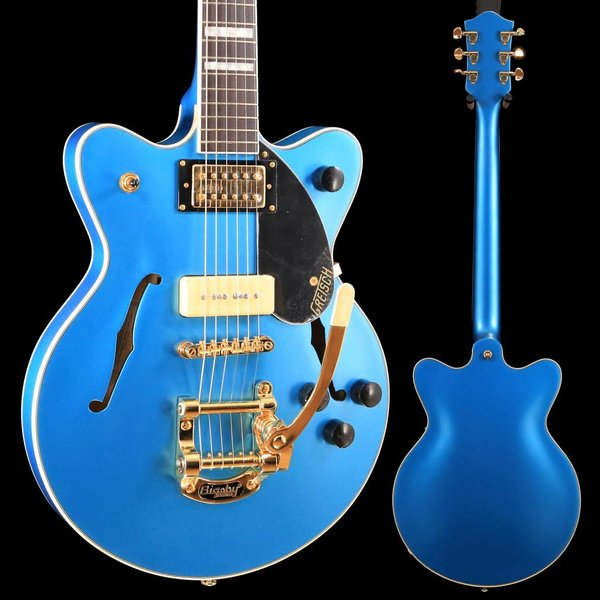 Gretsch Guitars Gretsch G2655TG-P90 LTD Streamliner Cntr Blk Jr Dbl Cutwy RW Fngrbd, Riviera Blue Satin SN/180606847