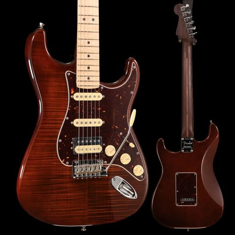 Fender Rarities Collection Flame Maple Top Stratocaster Electric Guitar Golden Brown SN/LEO6813