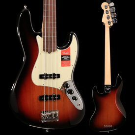 Fender American Pro Jazz Bass Fretless, Rosewood Fingerboard, 3-Color Sunburst