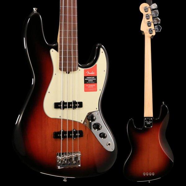 Fender American Pro Jazz Bass Fretless, Rosewood Fingerboard, 3-Color Sunburst