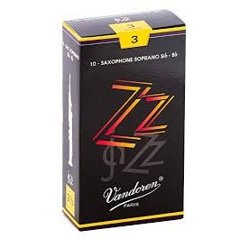 Vandoren Vandoren Soprano Sax ZZ Reeds, Box of 10 Strength 3