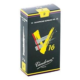 Vandoren Vandoren Soprano Sax V16 Reeds, Box of 10 Strength 2