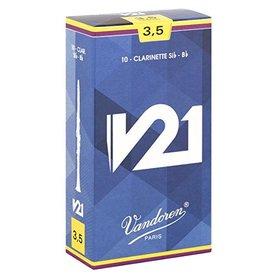 Vandoren Vandoren Bb Clarinet V21 Reeds, Box of 10 Strength 3.5+