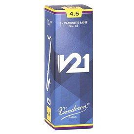 Vandoren Vandoren Bass Clarinet V21 Reeds, Box of 5 Strength 4.5