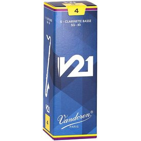 Vandoren Vandoren Bass Clarinet V21 Reeds, Box of 5 Strength 4