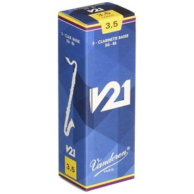 Vandoren Vandoren Bass Clarinet V21 Reeds, Box of 5 Strength 3.5