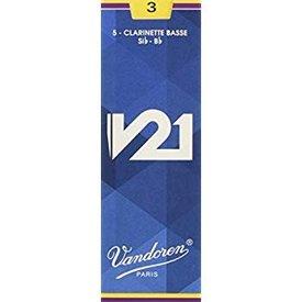 Vandoren Vandoren Bass Clarinet V21 Reeds, Box of 5 Strength 3