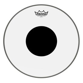 Remo Remo Controlled Sound Clear Drumhead, Top Black Dot 14""