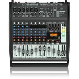 Behringer Behringer PMP500 500W 12-Channel Mixer, M-FX