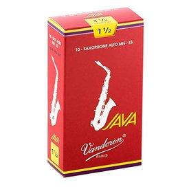 Vandoren Vandoren Alto Sax Java Red Reeds, Box of 10  Strength 1.5