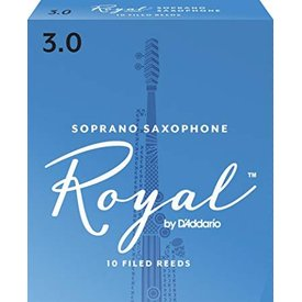D'Addario Woodwinds (Previously Rico) Royal by D'Addario Soprano Sax Reeds, Strength 3.0, 10-pack