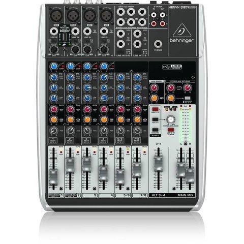 Behringer Q1204USB 12-Input 2/2-Bus Mixer, XENYX