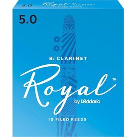 D'Addario Woodwinds (Previously Rico) Royal by D'Addario Bb Clarinet Reeds, Strength 5.0, 10-pack
