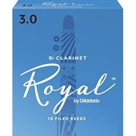 D'Addario Woodwinds (Previously Rico) Royal by D'Addario Bb Clarinet Reeds, Strength 3.0, 10-pack