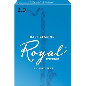 Rico Rico Royal Bass Clarinet Reeds, Box of 10 Strength 2