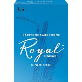 Rico Rico Royal Baritone Sax Reeds, Box of 10 Strength 3.5