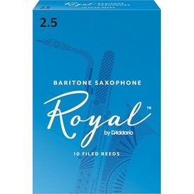 D'Addario Woodwinds (Previously Rico) Royal by D'Addario Baritone Sax Reeds, Strength 2.5, 10-pack